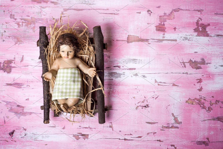 Baby Jesus Christmas background ~ Holiday Photos ~ Creative Market