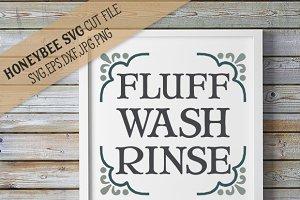 Fluff Wash Rinse Cut file
