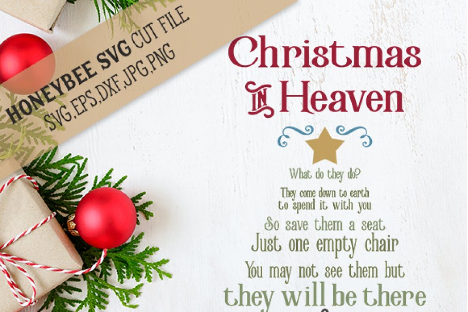 Christmas In Heaven.Christmas In Heaven Tree Illustrations Creative Market
