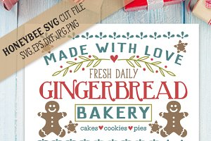 Gingerbread Bakery SVG EPS DXF JPG