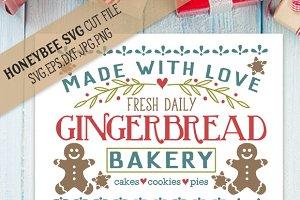Gingerbread Bakery SVG EPS DXF JPG
