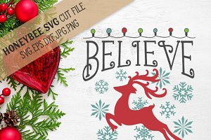 Believe Christmas SVG EPS DXF JPG