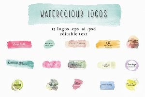 watercolour logos