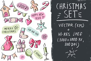 Vector set Christmas collection