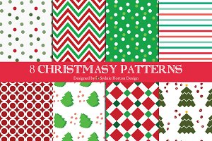 8 Christmasy Patterns