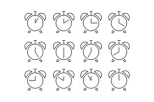 Set of clocks icons