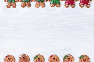 Gingerbread Xmas Cookie Borders