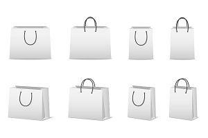 Paper shopping bags.