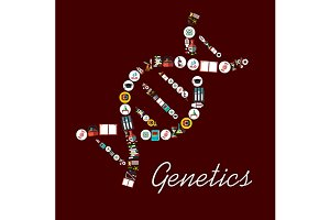 Genetic science symbols