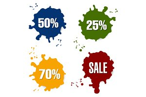 Sale labels.
