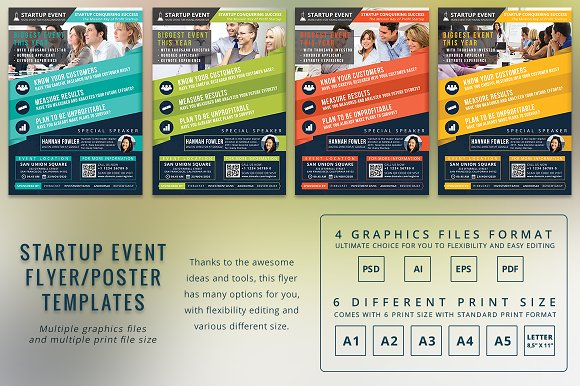 startup event flyer template flyer templates creative market