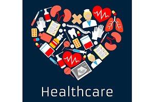 Heart shape emblem