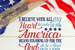 God Bless America 4th Of July Svg Pre Designed Photoshop Graphics Creative Market