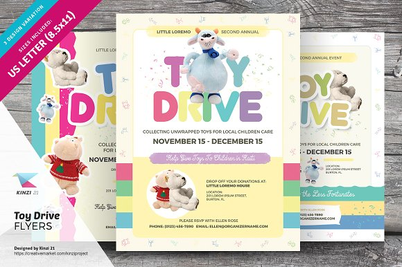 Toy Drive Flyer Templates