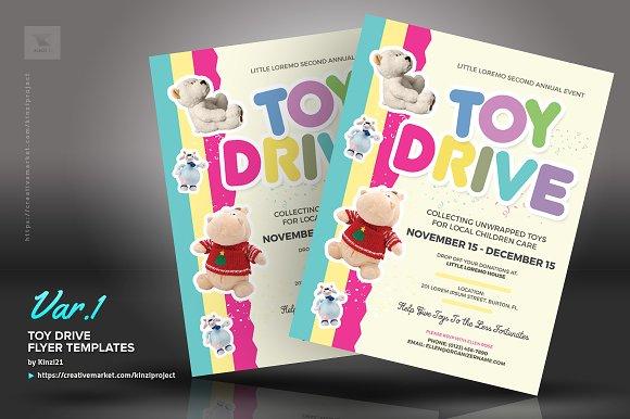 Toy Drive Flyer Templates Flyer Templates Creative Market