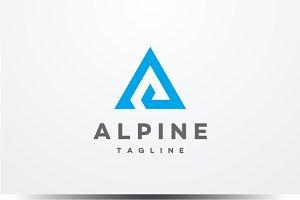 Alpine - Letter A Logo