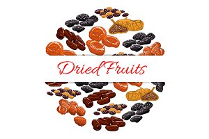 Dried fruits banner
