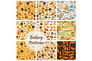 Bakery patterns set