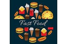 Fast food decoration design