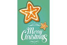 Christmas gingerbread star