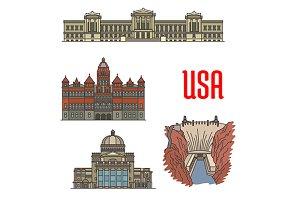 Famous landmarks of USA