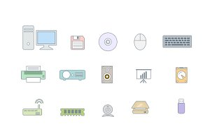 15 Computer Peripheral Icons