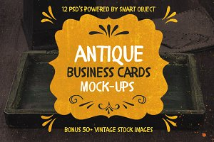 Antique Business Cards Mock-ups