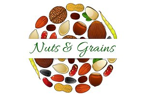 Nutritious nuts and grains