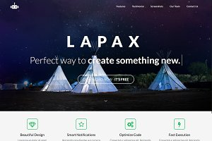 Lapax - One Page App Landing Page