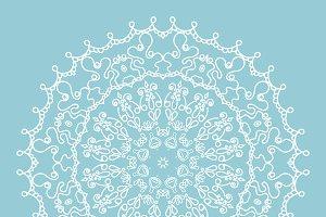 Vector knitted snowflake mandala
