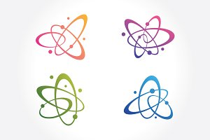 Molecules & atoms symbols Set