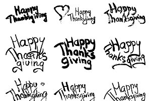 Vector Happy Thanksgiving lettering