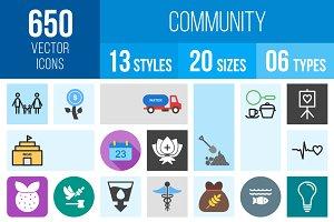 650 Community Icons