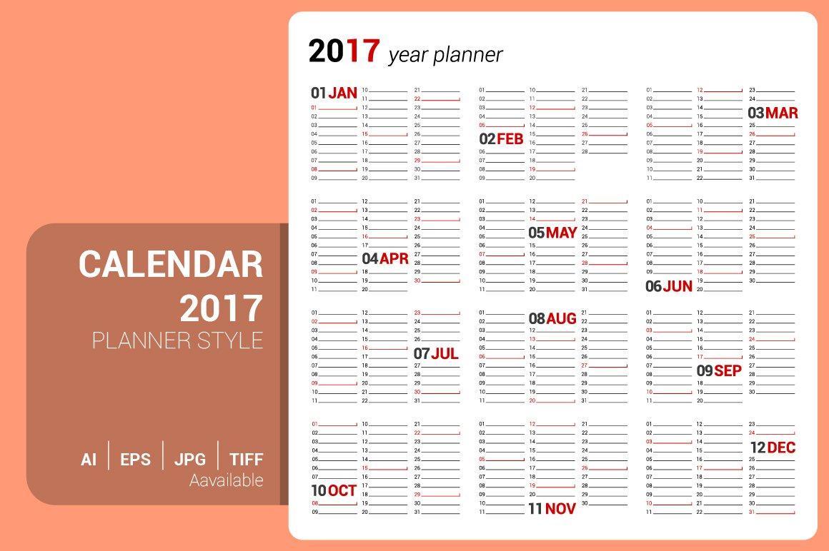 Calendar Planner Design : Calendar planner design stationery templates