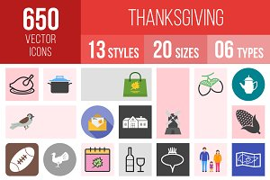 650 Thanksgiving Icons