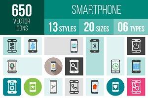 650 Smartphone Icons
