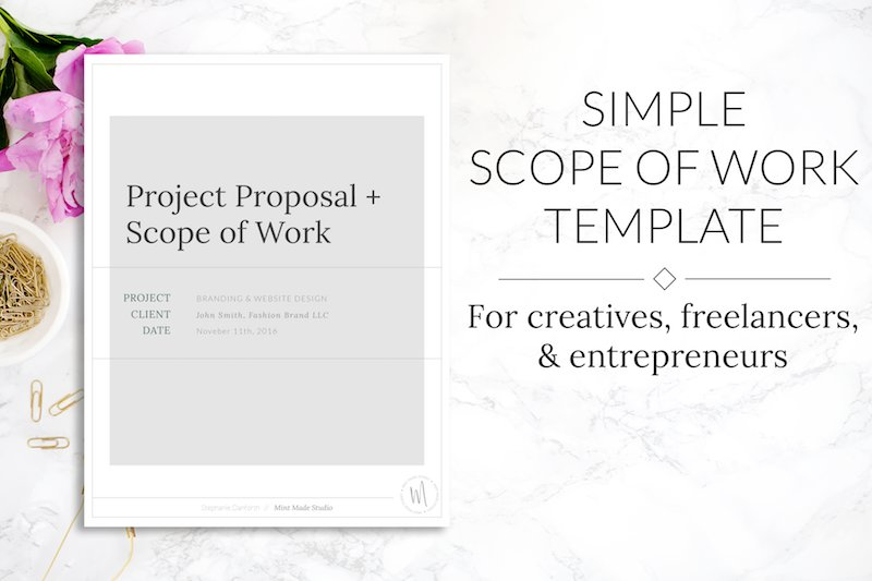 scope of work project proposal brochure templates creative market