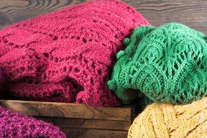 Heap of Winter womans woolen sweaters