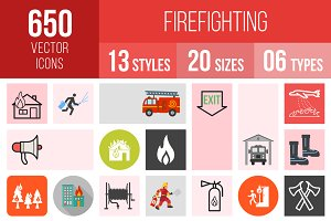 650 Firefighting Icons