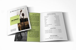 Funeral Program Template-V621