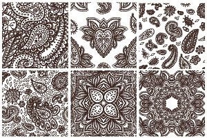 Floral mehendy pattern ornament