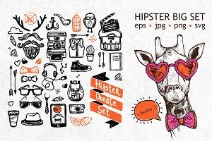 Hipster Big Doodle Set