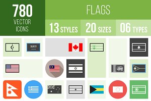 780 Flags Icons