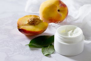 Face cream with peach