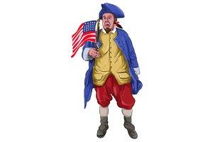 American Patriot Shouting