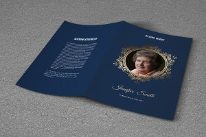 Funeral Program Template-T623