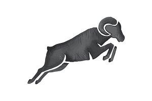 Ram Goat Silhouette Jumping