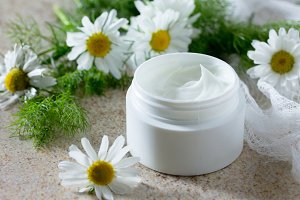 Face cream with chamomile