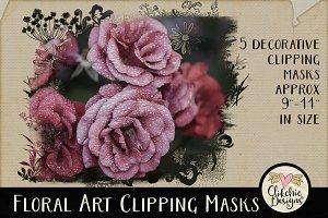 Floral Art Photography Masks
