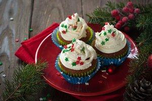 Christmas cupcakes